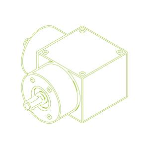 KSZ-H-100-L-Rapport de réduction 3:1-Renvois d`angle