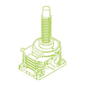 250kN-80×16-Vis trapézoïdale R