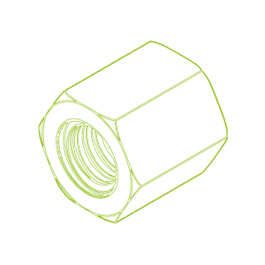 Écrou hexagonal en acier SKM