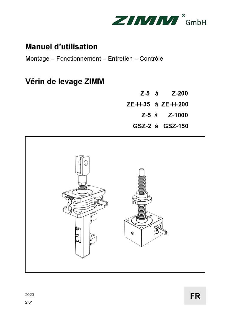 Manuel d'utilisation 2.0 | Vérin de levage | Français